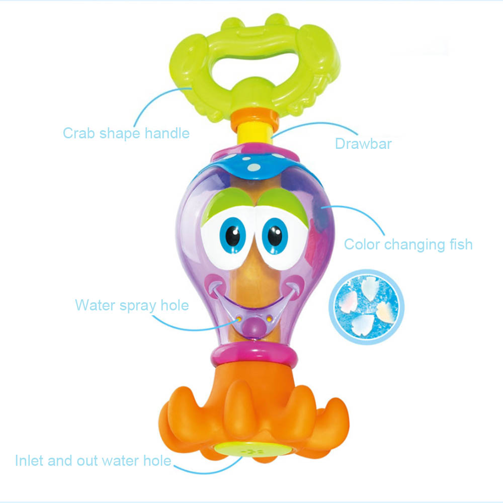 Hot Funny Kids Toys Cartoon Octopus Faucet Baby Bathing Water Play Toy Holiday Blaster Water Gun Toy Kids Beach Water Gun Toys