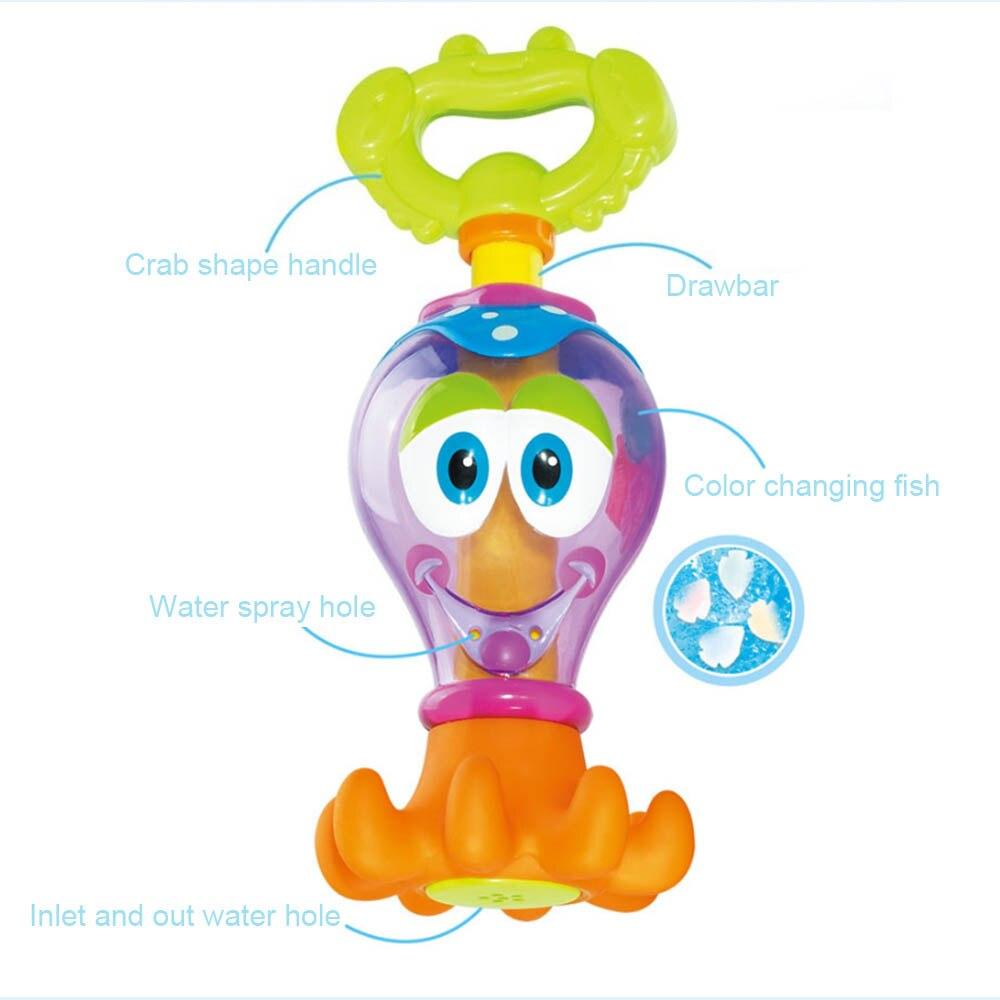 Hot Funny Kids Toys Cartoon Octopus Faucet Baby Bathing Water Play Toy Holiday Blaster Water Gun Toy Kids Beach Water Gun Toys
