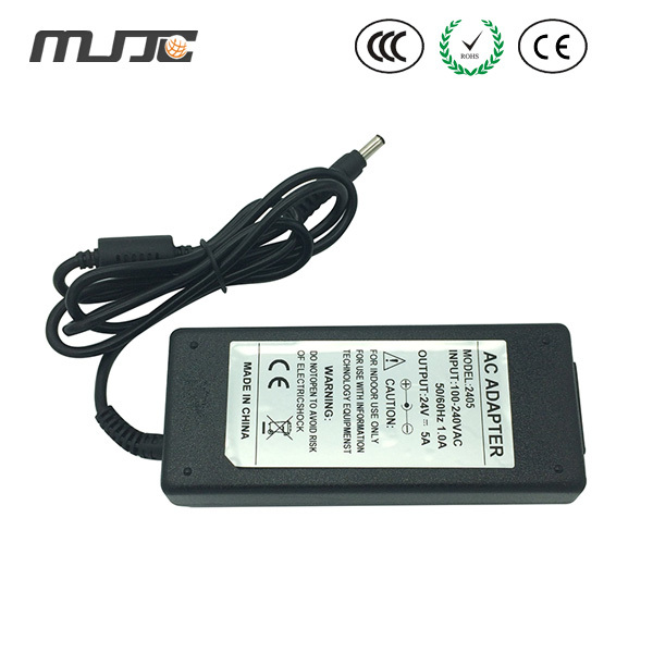 MJJC 24V 5A led Desktop Adapter Power Adapter 120w Power Supply with U.S./EU. Standard for led light