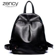 Настоящее Пояса из натуральной кожи A Для женщин рюкзак Винтаж Модные женские Рюкзаки для Обувь для девочек элегантный дизайн школьная сумка ноутбук рюкзак Mochila