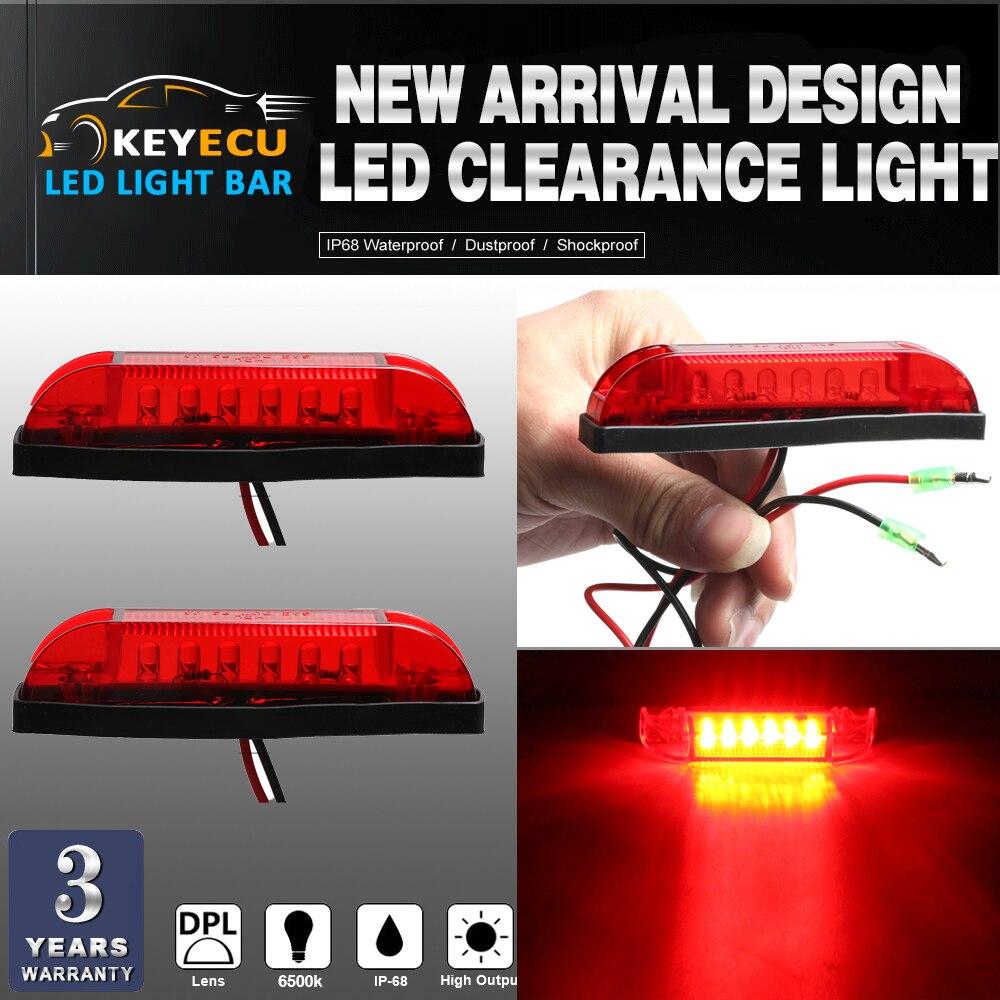 KEYECU 2PCS Red LED Strip Light Maker Light 4 Great Utility Light Indoor & Outdoor Lighting universal use on any application