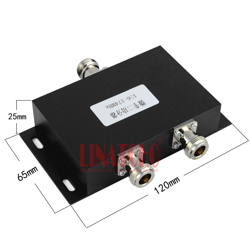 2 vias RF vhf 150MHz Micro-strip Power Splitter 136-174MHz rádio bidirecional repetidor de vhf divisor