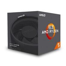 AMD Ryzen 5 1400 R5 1400 CPU orijinal işlemci 4 çekirdek 8 konuları soket AM4 3.2GHz 65W 10MB önbellek 14nm masaüstü YD1400BBM4KAE