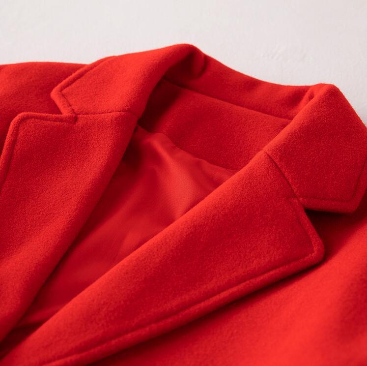 Mühle Embro Wolle Winter Frauen Schwarzes Stickerei 4xl Plus Lose Graben rot M Für Weiblichen Elegante Größe Mäntel Mantel Windbreaker Dame Floral dPr5wPqxS