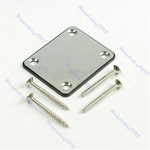 Chrome Neck Plate W/Screw For Fender Start Tele Screws niko 50pcs chrome single coil pickup screws