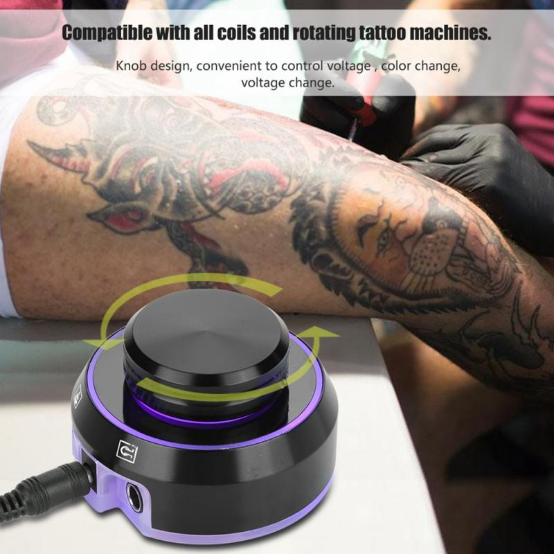 Professional Critical Tattoo Atom LCD Tattoo Power Supply with Power Adaptor for Coil & Rotary Tattoo Machines