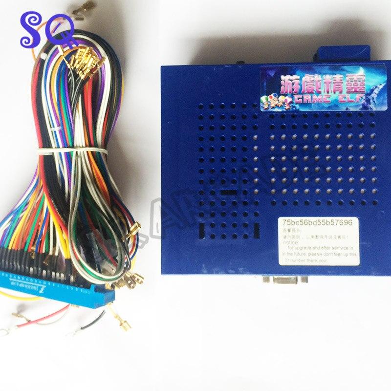 Free shipping Jamma arcade game ELF 412 in 1 PCB Cartridge vard classical vertical screen mothergame