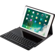 Kemile For apple ipad Air 2 9.7 Ultra Slim Glass Bluetooth 3.0 Keyboard Case for iPad air 9.7 Cover Stand W Removeable Keyboard ultra slim shell abs plastic folio wireless bluetooth keyboard carrying stand case cover for apple ipad air 2 ipad 6 9 7inch