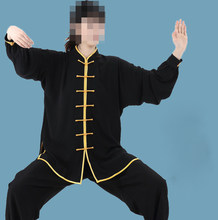 unisex 12color high quality tai chi suits martial arts uniforms kung fu clothing costume black/red/gray/purple(China)