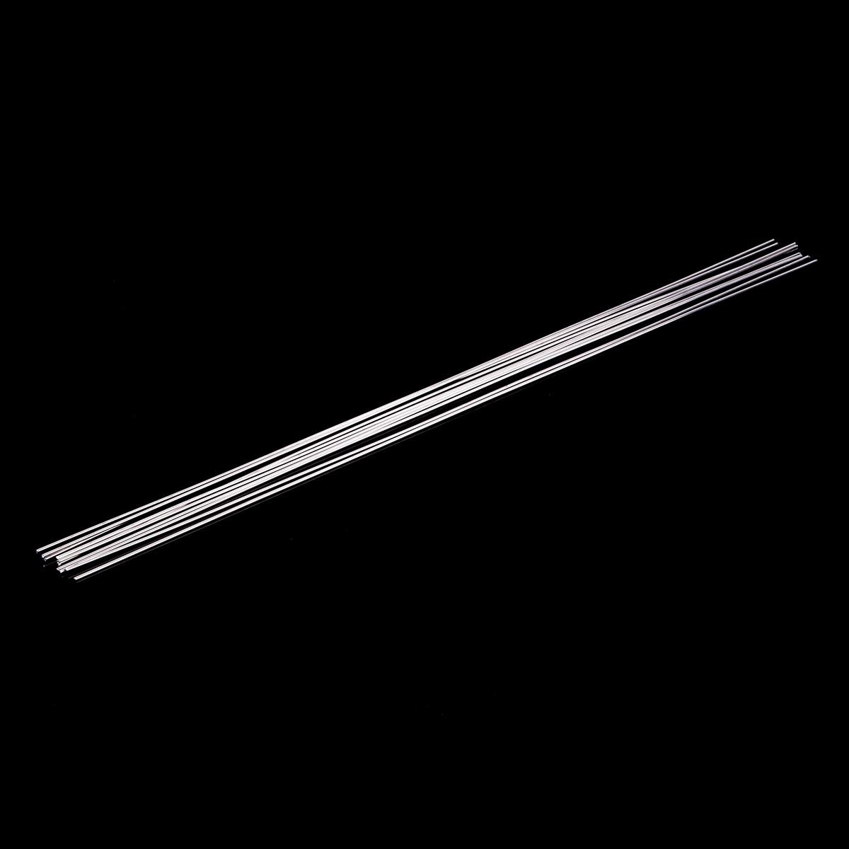 10pcs Metal Aluminum Welding Rod Low Temperature Magnesium Soldering Brazing Stick Rods 1.6mmx45cm Silver 3