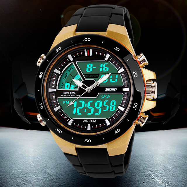 fbd65750 Men's Sport Watches Men Quartz Digital Wristwatch LED Clock Man Military  Waterproof Watch Women Relogio Masculino SKMEI 2019