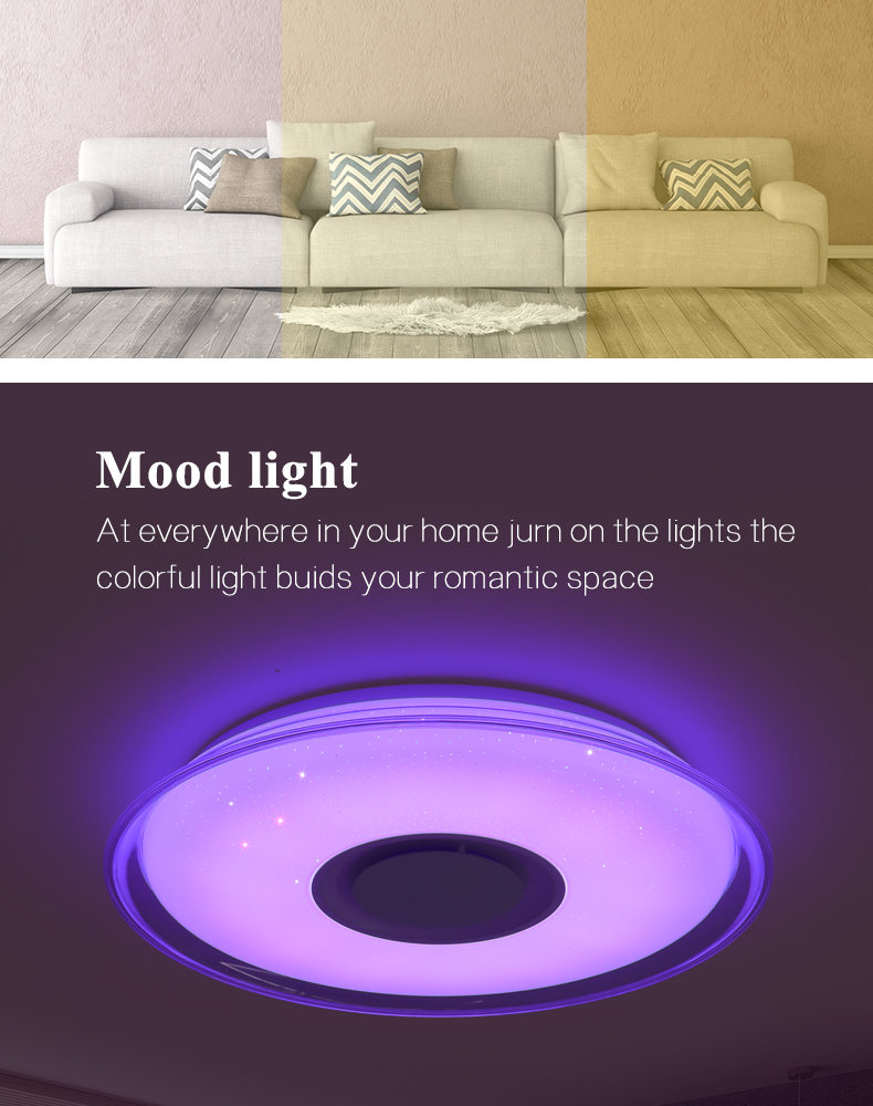 HTB10qejbbH1gK0jSZFwq6A7aXXaD Modern LED ceiling Light RGB Remote control 36W 52W ceiling lamp APP Bluetooth Music living room lamps bedroom ceiling+lights
