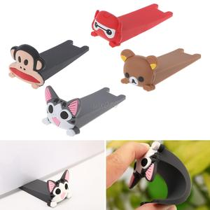 S02 Cute Cartoon Silicone Door Jam Door Stopper Drop Wedge Slip Resistant Catcher