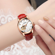ladies watch heart-shaped hollow fully automatic mechanical luminous waterproof fashion personality female models