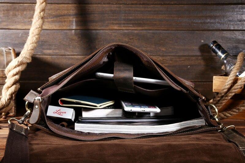 Ordinateur Première Cheval Portable Messenger Vente Fou 1 Aetoo En Mâle Cuir De Fabricants Couche D'épaule Sac Rétro La wpqp85O