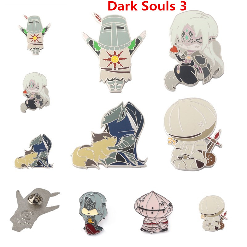 New Game Dark Souls 3 Solaire Of Astora ARTORIAS Onion Knight Cosplay Props Badge Brooch Pin Pendant Halloween Collection Gift