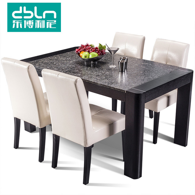 East Bollini Simple And Stylish Wood Burning Stone Dining Table - Wood and stone dining table