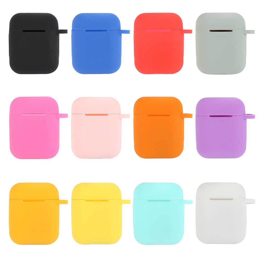 Earphone Case For Apple AirPods Cover For True Wireless Bluetooth Headphone Air Pods Pouch Protective AirPod Accessories