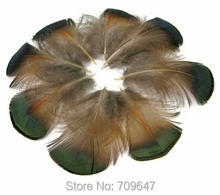 Pheasant Feathers! 100Pcs/lot!4-6cm GREEN BRONZE Golden Plumage feathers freeshipping