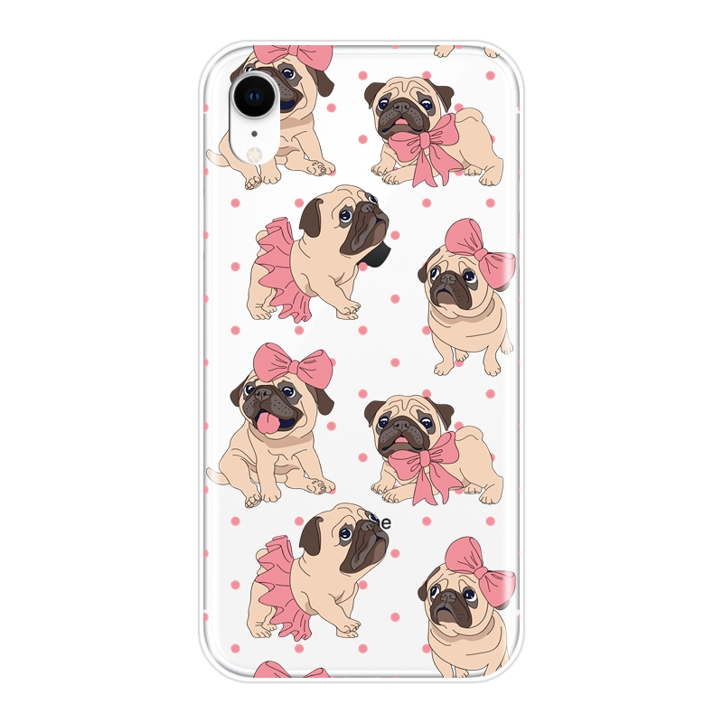 Phone Case For iPhone X XR XS MAX 8 7 6S 6 S Pug French Bulldog Silicone Soft Back Cover For Apple iPhone 8 7 6S 6 S Plus Case  My Pet World Store