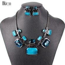 Joyería de Moda Marca Establece Gunmetal Plateó MS20623 6 Colores de la Mujer del Collar Regalos de la Fiesta Nupcial de La Alta Calidad