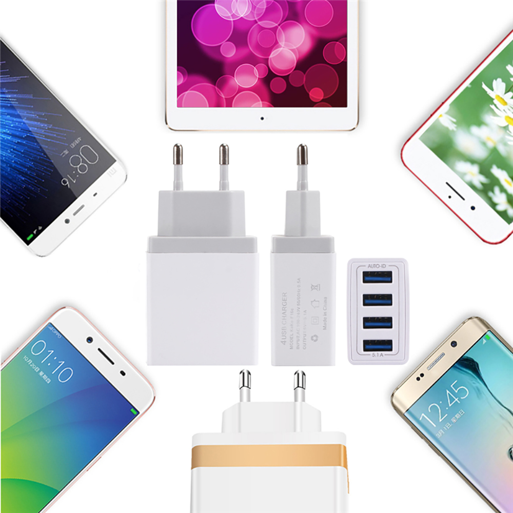 4USB-Color-Quick-Charge-Wall-Charger-Cable-Phone-Charger-Fast-Charging-Micro-USB-Cable-For-Samsung