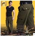 Envío libre!!! primavera de Los Hombres Pantalones de Carga Deportes Holgados Pantalones de Algodón Pantalones Para Hombres Camuflaje militar Táctico
