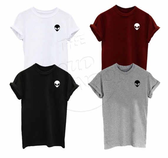 7bb46e42585 Alien Face Small Chect Icon Grumpy Funny Fashion Tumblr Gift Weird Internet  Viral Fashion Unisex Tshirt