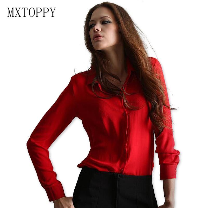 Work Wear 2017 Women Shirt Chiffon Tops Elegant Ladies Formal Office Blouse 5 Colors  Blusas Femininas Plus Size XXL