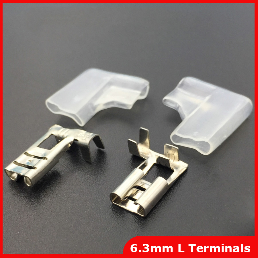 Female Right Angle Spade Crimp High Quality 6.3mm Flag Terminal Covers