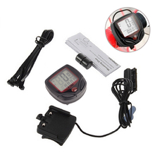 Waterproof Bike Computer,Bicycle Meter Odometer Speedometer With LCD Display,Cycling Computer Velocimetro Wired Stopwatch
