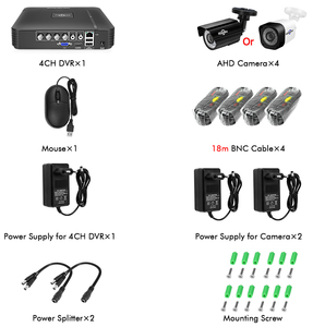 Image 5 - Hiseeu Home Security Cameras System Video Surveillance Kit CCTV 4CH 720P 4PCS Outdoor AHD Security Camera System