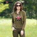 Cazadora femenina Verde Verde Del Ejército Pantalones Vaqueros Cortos Abrigo de Mujer de Marca Señoras de la Gira el Collar Abajo Delgado Top Para Las Mujeres Vc-13118