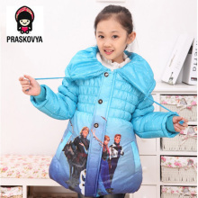 childen winter down jacket for Girls fantasia elsa Anna Snow Queen Girls Clothing Children's girl parka cotton Coat clothes warm