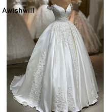 Awishwill Vestido de Novia Wedding Dress Ball Gown V-neck