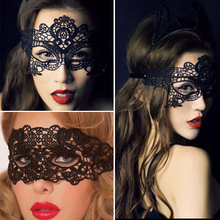 Black Women Sexy Lace Eye Mask Party Masks for Masquerade Halloween Venetian Costumes Carnival Mask for Anonymous Mardi 1pcs black women sexy lace eye mask party masks for masquerade halloween venetian costumes carnival mask for anonymous mardi