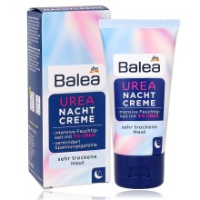 100%Germany Balea 5% Urea Night Cream 50ml for Very Dry Skin Intensive Moisture Moisturizing Face Improve Elasticity