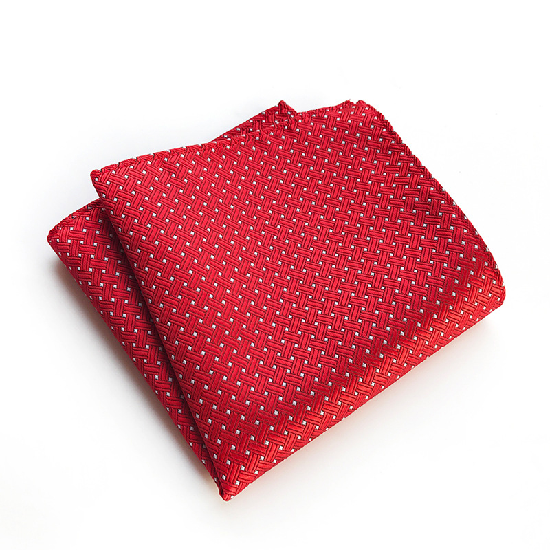 Polyester Handkerchief Pocket Square For Mens Suit Striped Plaid Pocket Towel Wedding Hankies Chest Towel