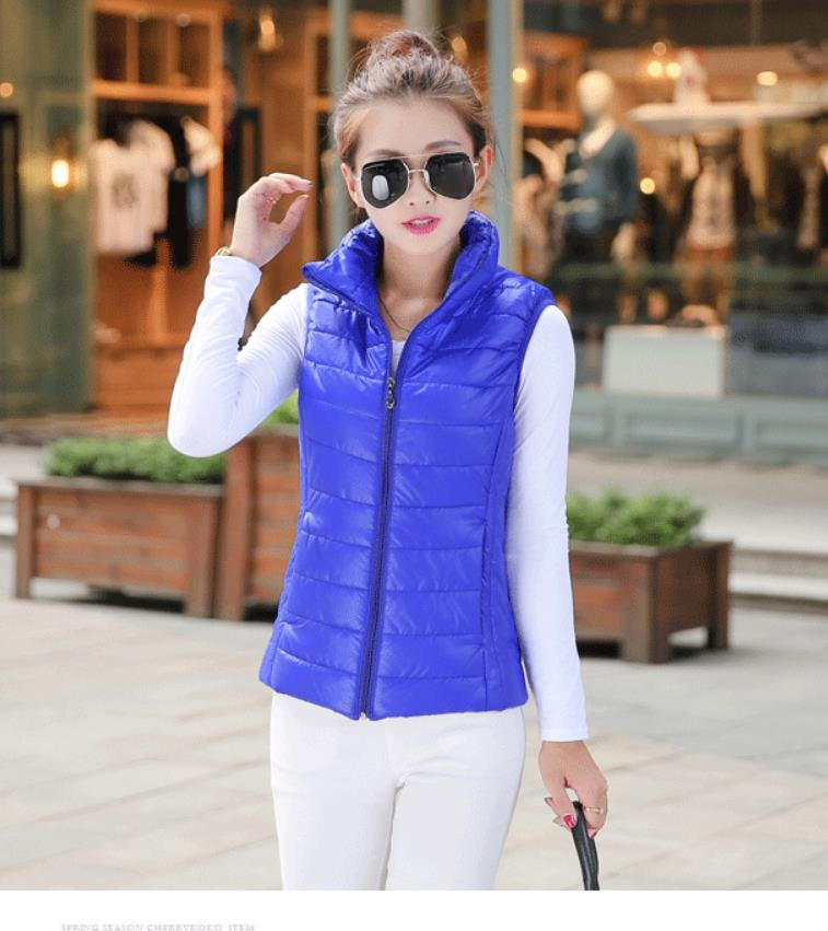 Gilet 2019 femme section courte veste mince gilet printemps et automne nouveau manteau de base veste 201923