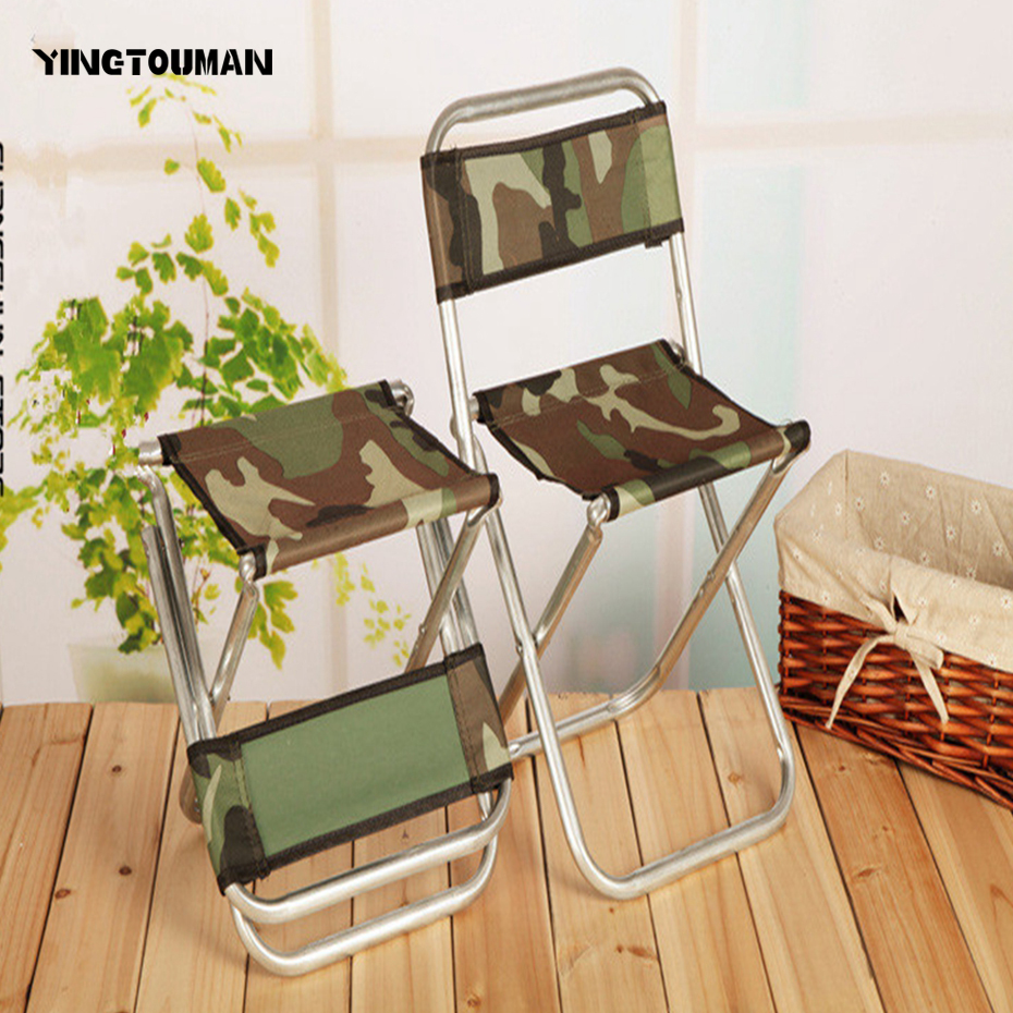 YINGTOUMAN Camouflage Foldable Fishing Camping Chair Portable Outdoor Stool Fishing Chairs Tools Picnic Outdoor Rest Seat outdoor camping tripod folding stool chair fold fishing foldable portable fishing mate fold ultralight chairs home ottoman