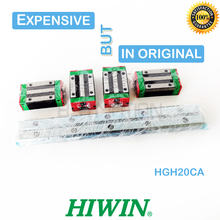 Guía lineal Original HIWIN HGR20, 280, 300, 460, 500, 640, 700, 820, 900, 1000mm, 1100, 1200, carril, HGH20CA, carro deslizante para pieza cnc