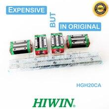מקורי HIWIN ינארית מדריך HGR20 280 300 460 500 640 700 820 900 1000mm 1100 1200 1500 רכבת HGH20CA מרכבת שקופיות עבור cnc חלק
