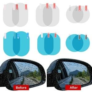 Image 2 - 2PCS/Set Car Sticker Anti Fog Car Rearview Mirror Protective Film Car Mirror Window Clear Film Membrane Waterproof Car Decal
