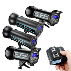 Image 1 - Godox QS400II 400WS / QS600II 600WS / QS800II 800WS / QS1200II 1200WS+ X1 2.4G Wireless Transmitter Studio Strobe Flash Light
