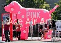 Надувные животные украшения Розовый Надувной собаки для рекламы