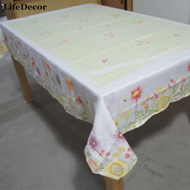 pastoral style tablecloths kohls sonoma idyllic wild daisy flower table fabric merry christmas decorations for home - Kohls Christmas Decorations
