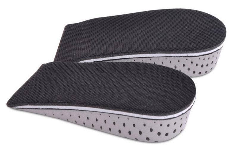 1Pair  4.3cm Shoe Inserts Cushion Pads Men Women Unisex Memory Foam Increase Height High Half Insoles