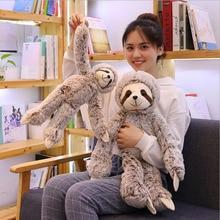 Cute Simulation Sloth Doll Plush Toys Stuffed Animal Sloth Plush Doll Toy Children Toys Kids Room Decoration Gift стоимость