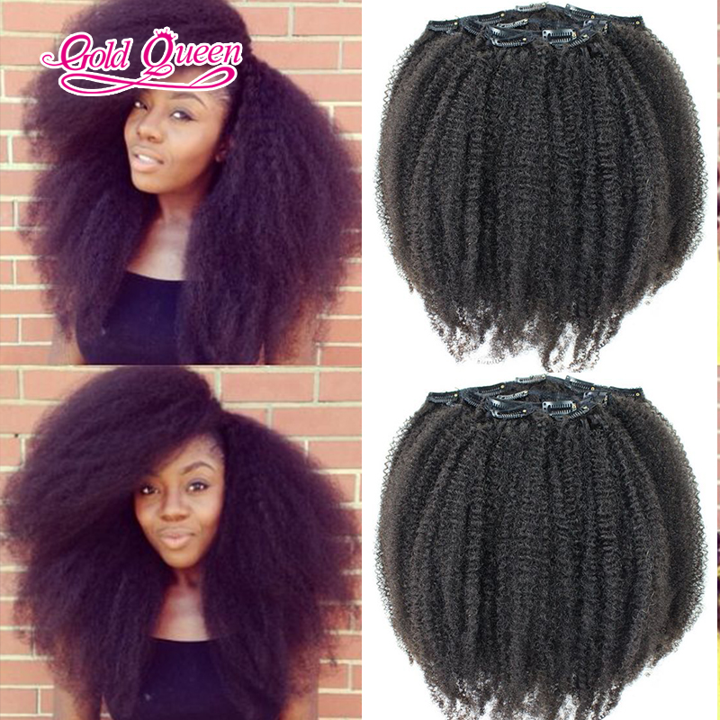 Beautiful Afro Kinky Curly Hair Virgin Brazilian Hair Clip