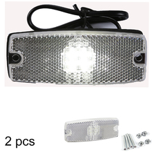AOHEWEI 10 30 V ECE Approval LED white side marker   light indicator lamp with reflector for trailer truck lorry RV  caravan